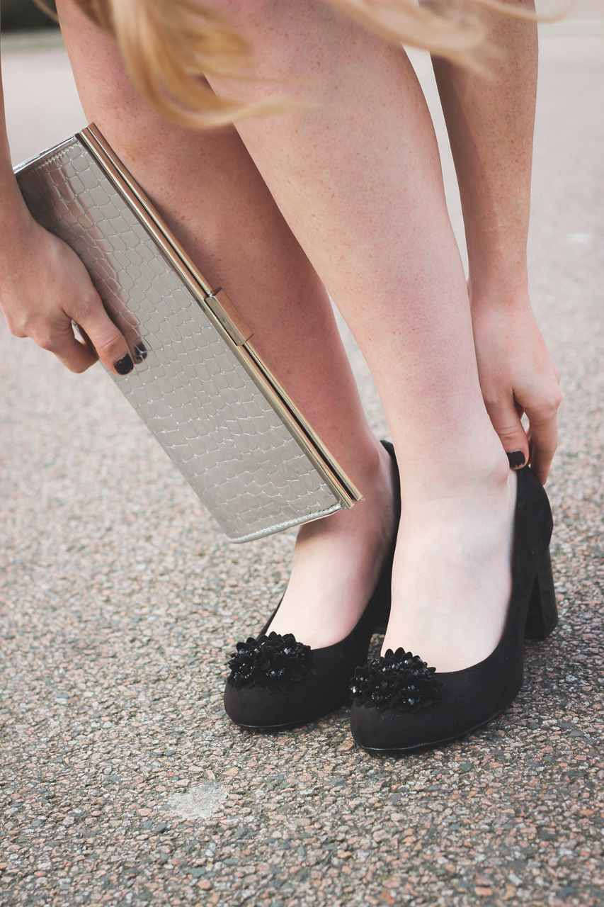 George Asda Embellished Black Heels