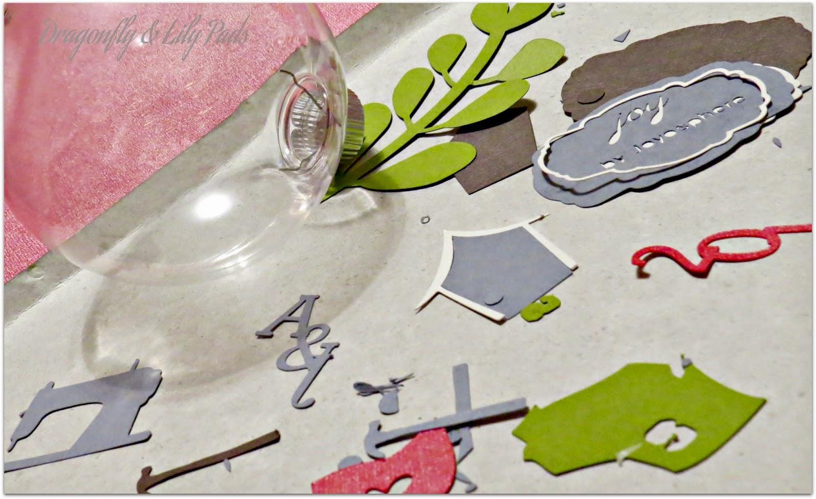 Christmas Ornament, Silhouette Store Shapes, Scrapbook paper, Plastic Ornament