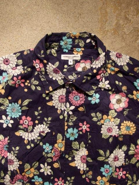 Engineered Garments Camp Shirt in Navy Floral Print Lawn Spring/Summer 2015 SUNRISE MARKET