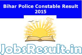 Bihar Police Constable Result 2015