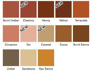 Brun fargekart