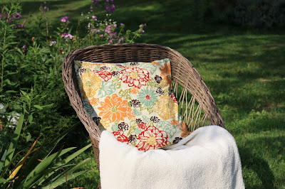 marsala and mustard floral print pillow cover