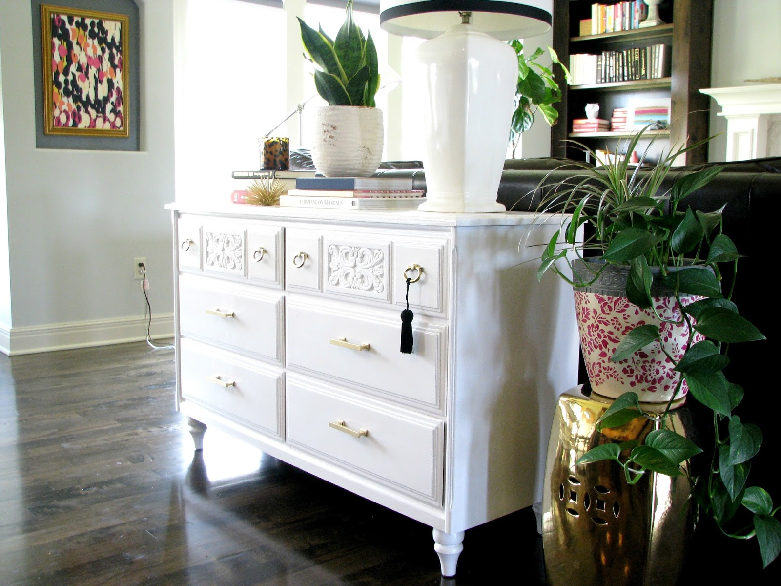 life love larson painted white dresser. Black Bedroom Furniture Sets. Home Design Ideas