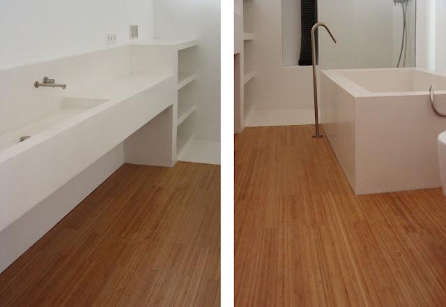 Madera en cocinas y ba os espacios en madera - Tarima de bano ...