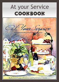 "Purchase ""At Your Service"" Cookbook"