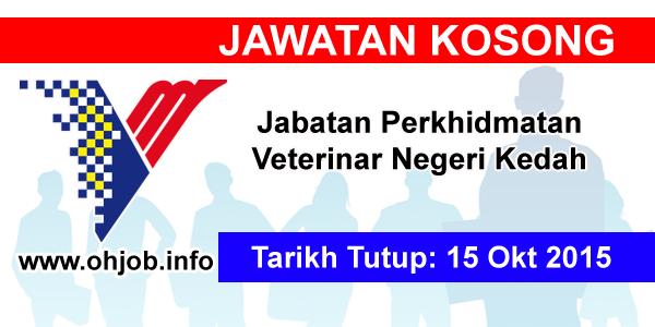 Jawatan Kerja Kosong Jabatan Perkhidmatan Veterinar Negeri Kedah logo www.ohjob.info oktober 2015