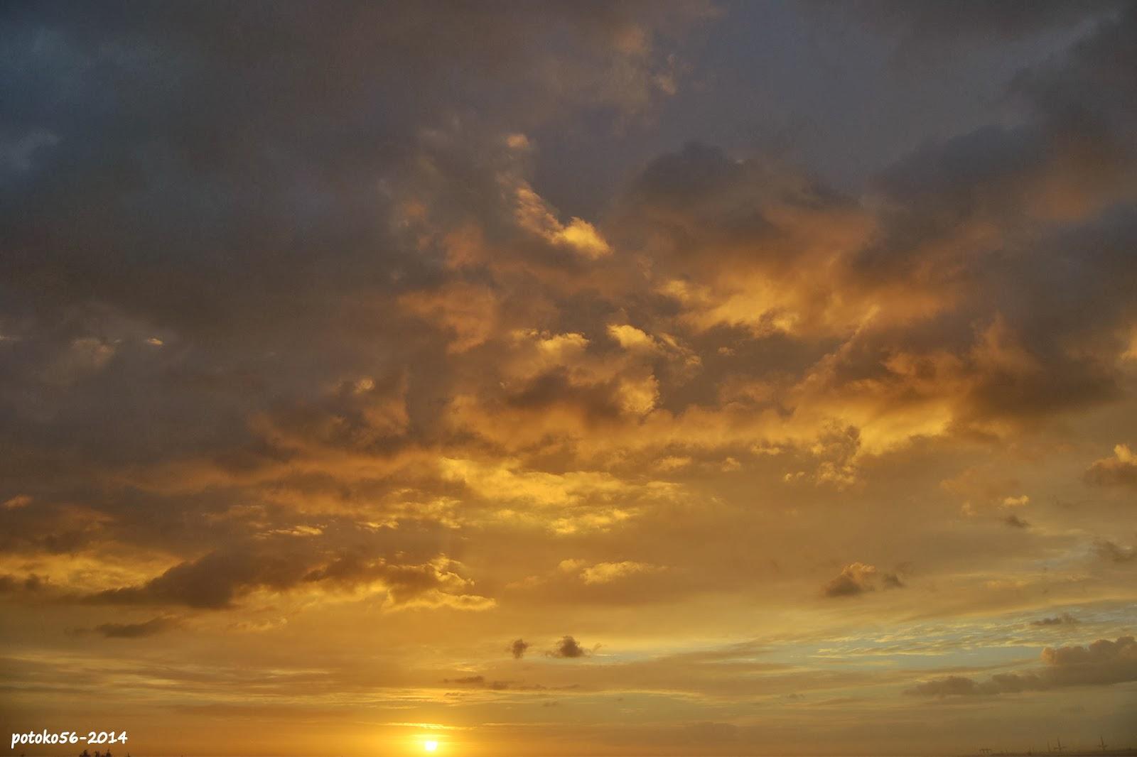 Nubes en el amanecer de hoy 11-02-14 Rota