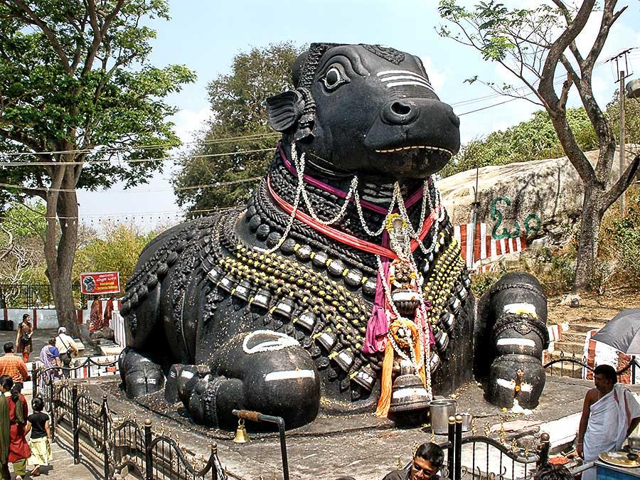 monolithic nandi statue on chamundi hills mysore