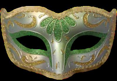 Máscara Carnaval PNG - Simples Amarelo e Verde