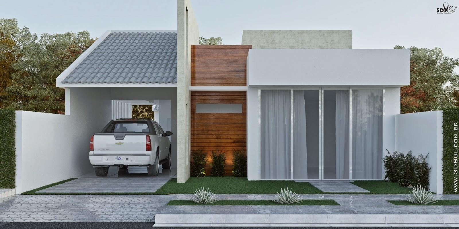 3DSul Maquete Eletrônica 3D: Fachada 3D de Casa / Arquitetura 3D  #654124 1600 800