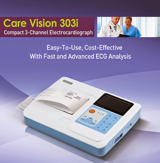 may do dien tim 3 kenh Care-Vision-303i