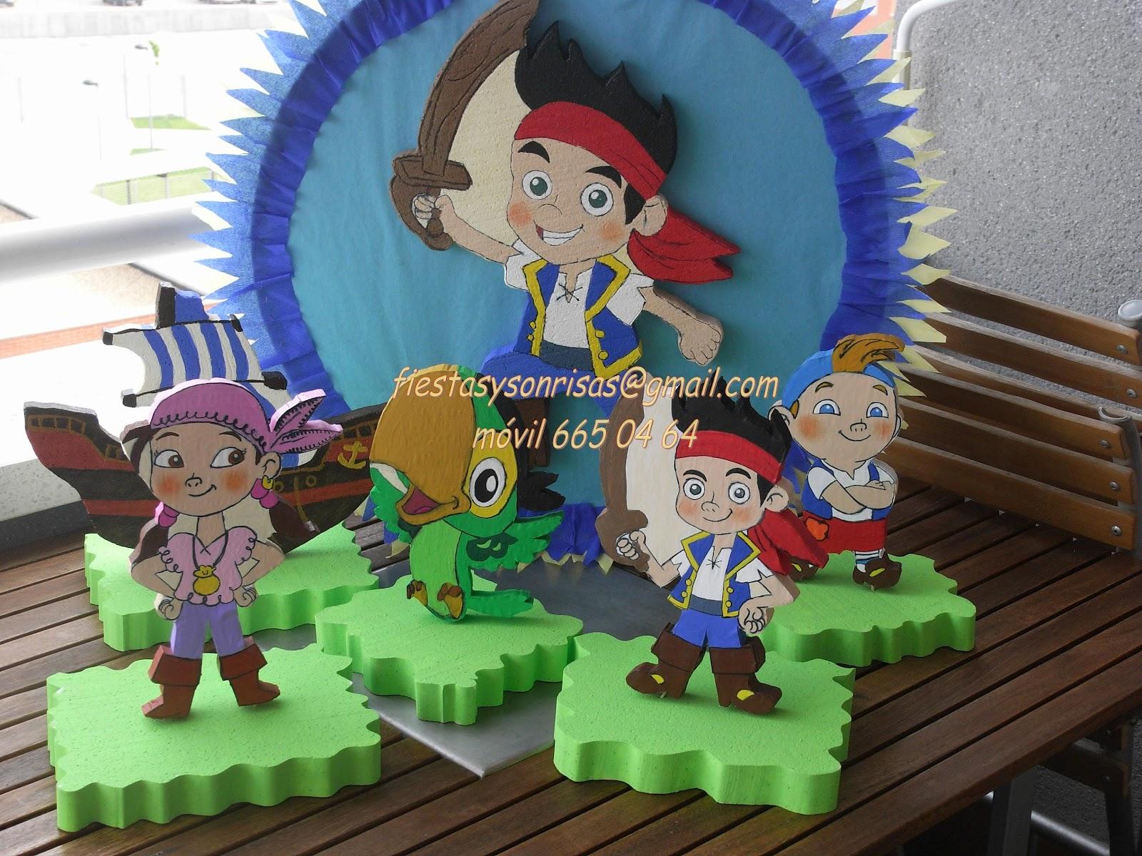Decoracion de fiesta jake y los piratas de nunca jamas for Yei y los piratas de nunca jamas