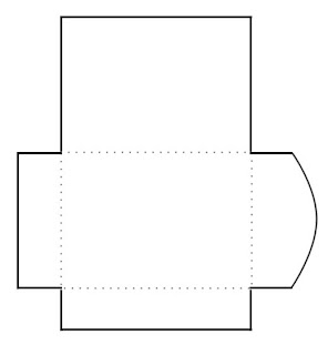 Blank Print and Cut Gift Card Envelope Template