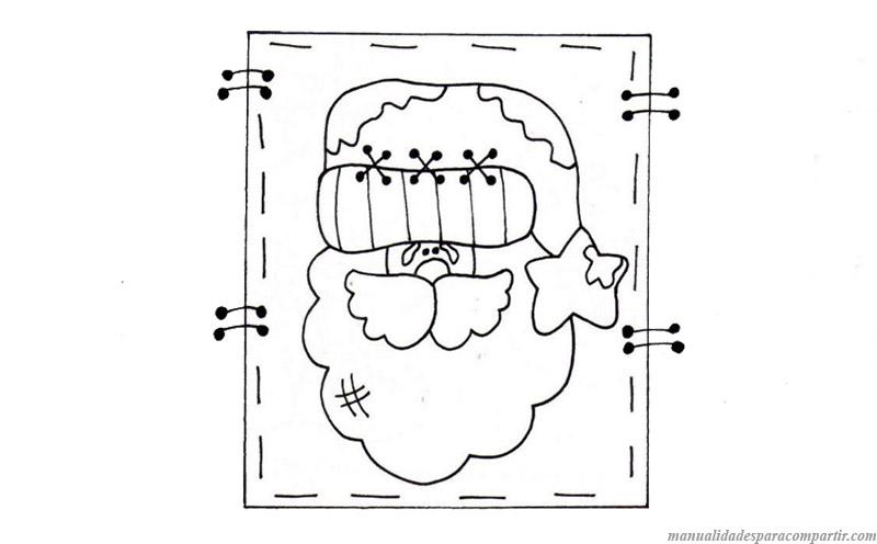 Molde dibujos navideños para decorar frascos reciclados.