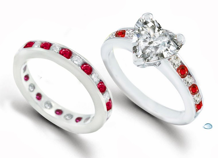 Engagement ring ruby and diamond engagement wedding rings 47 for Ruby wedding band rings