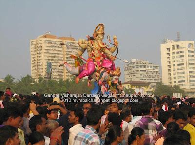 Shree Ganesh Visharajan Darshan Girgaum Chaupati 2012
