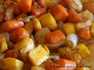 Oven Roasted Potatoes Rutabaga Carrots and Butternut Squash
