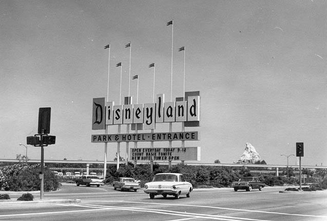 Disneyland opening day, July 17, 1955