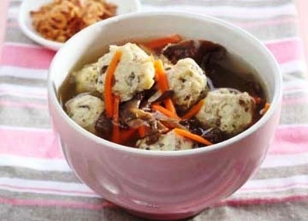Mushrooms Chicken Meatballs. Nusantara Culinary