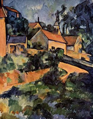 La Route tournante à Montgeroult Paul Cézanne