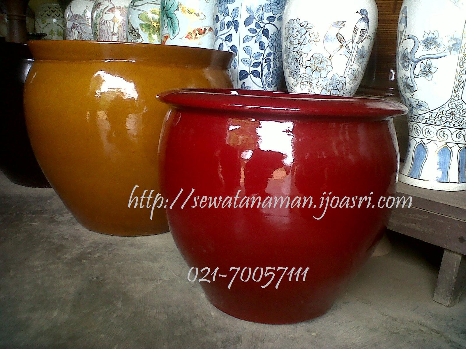 Pot warna Merah Untuk Indoor Plant