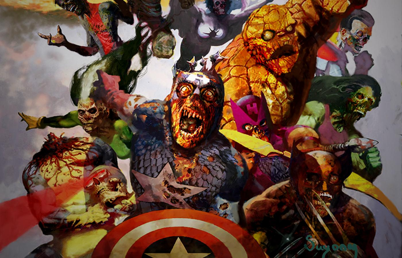Halloween wallpaper marvel zombies secret war zombies