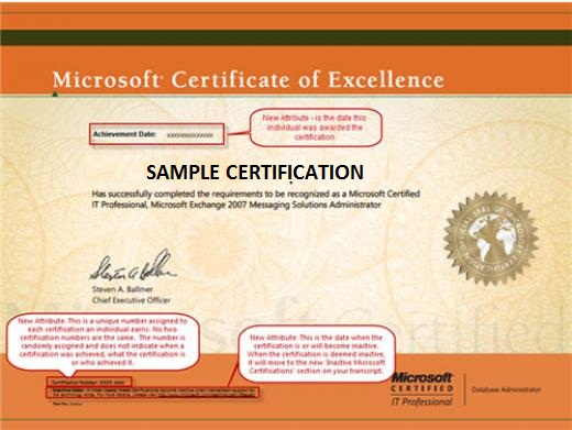 Good Sertifikasi Microsoft Regarding Microsoft Certificate Of Excellence
