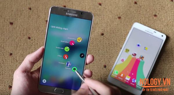 So sánh chi tiết Samsung Galaxy Note 4 Hàn Quốc và Note 5
