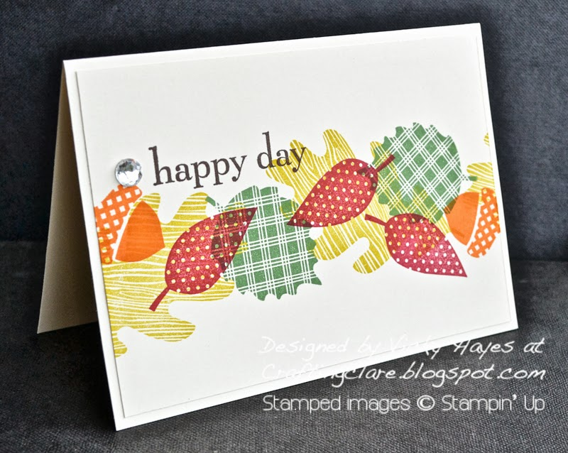card made with Wonderfall and Happy Day by Stampin Up