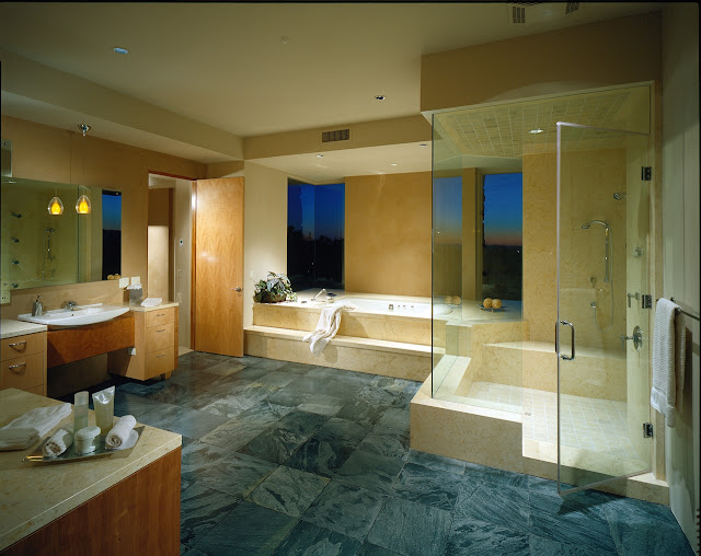 Picture of large modern bathroom in the desert house