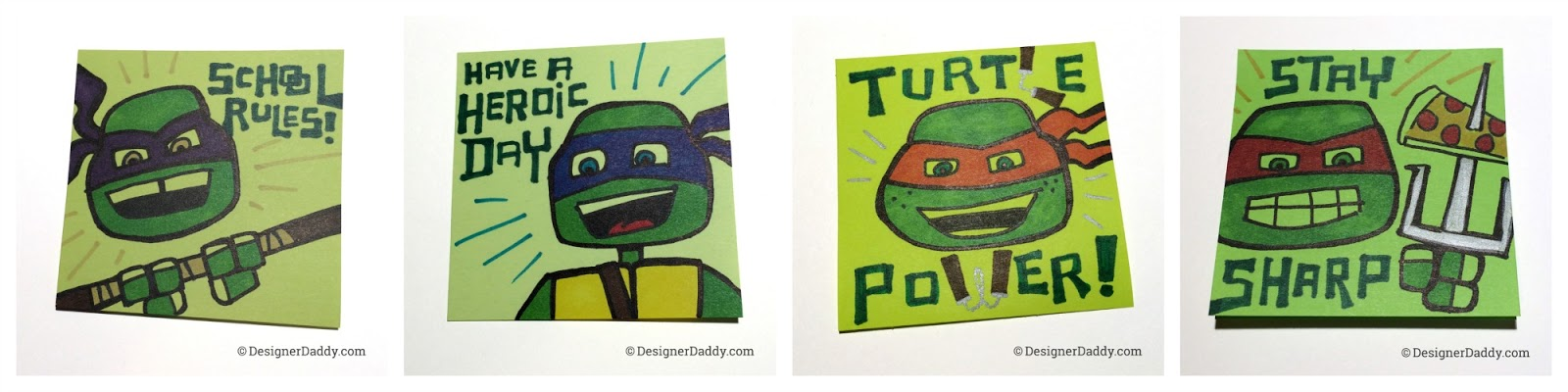 TMNT Super Lunch Notes and Giveaway