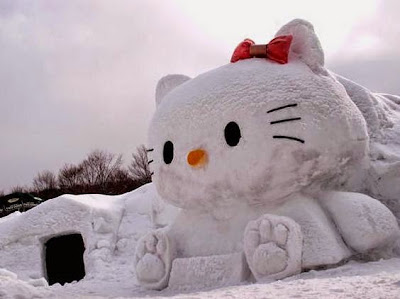 Gambar Hello Kitty Salju Wallpaper HD