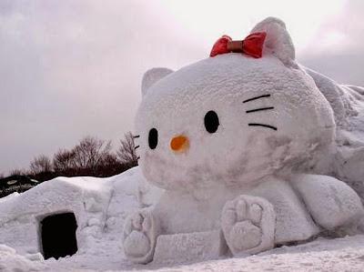 Gambar Hello Kitty Salju Wallpaper HD