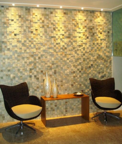 Construindo minha casa clean pedras decorativas for Paredes decoradas com ceramicas rusticas