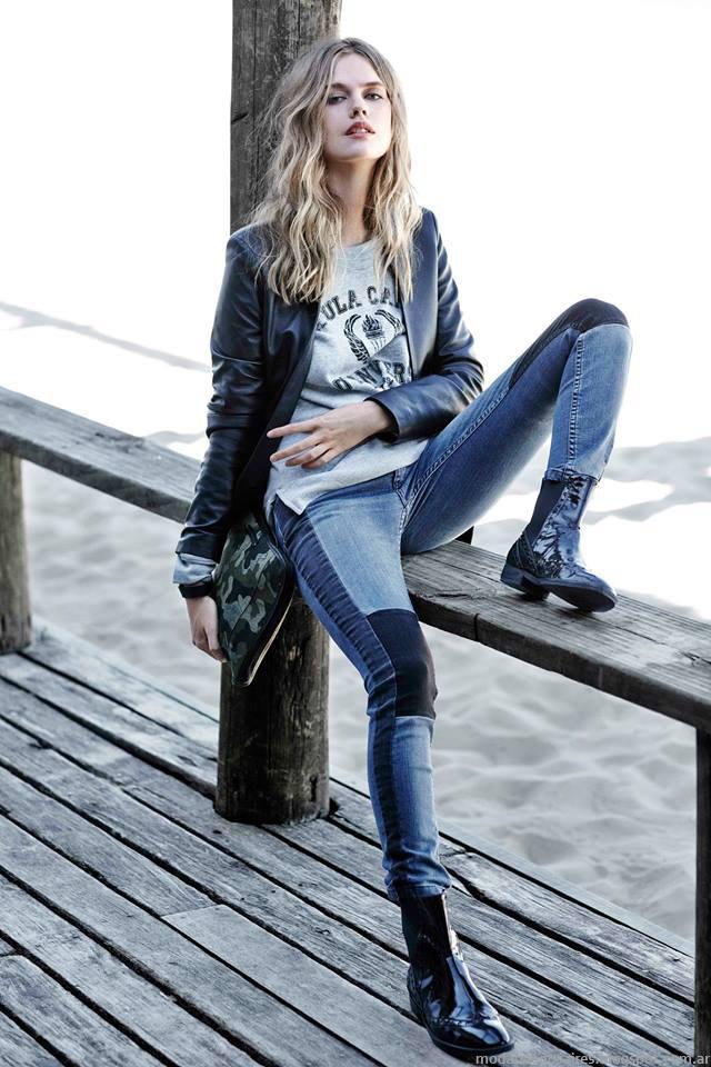 Moda otoño invierno 2015 jeans Paula cahen D'Anvers otoño invierno 2015.