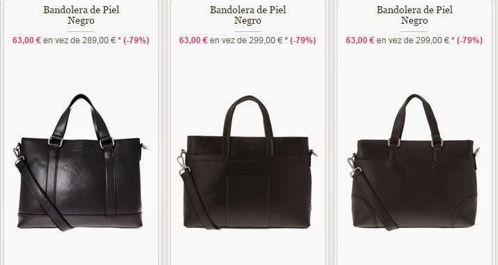 Ejemplos de bandoleras en oferta de color negro