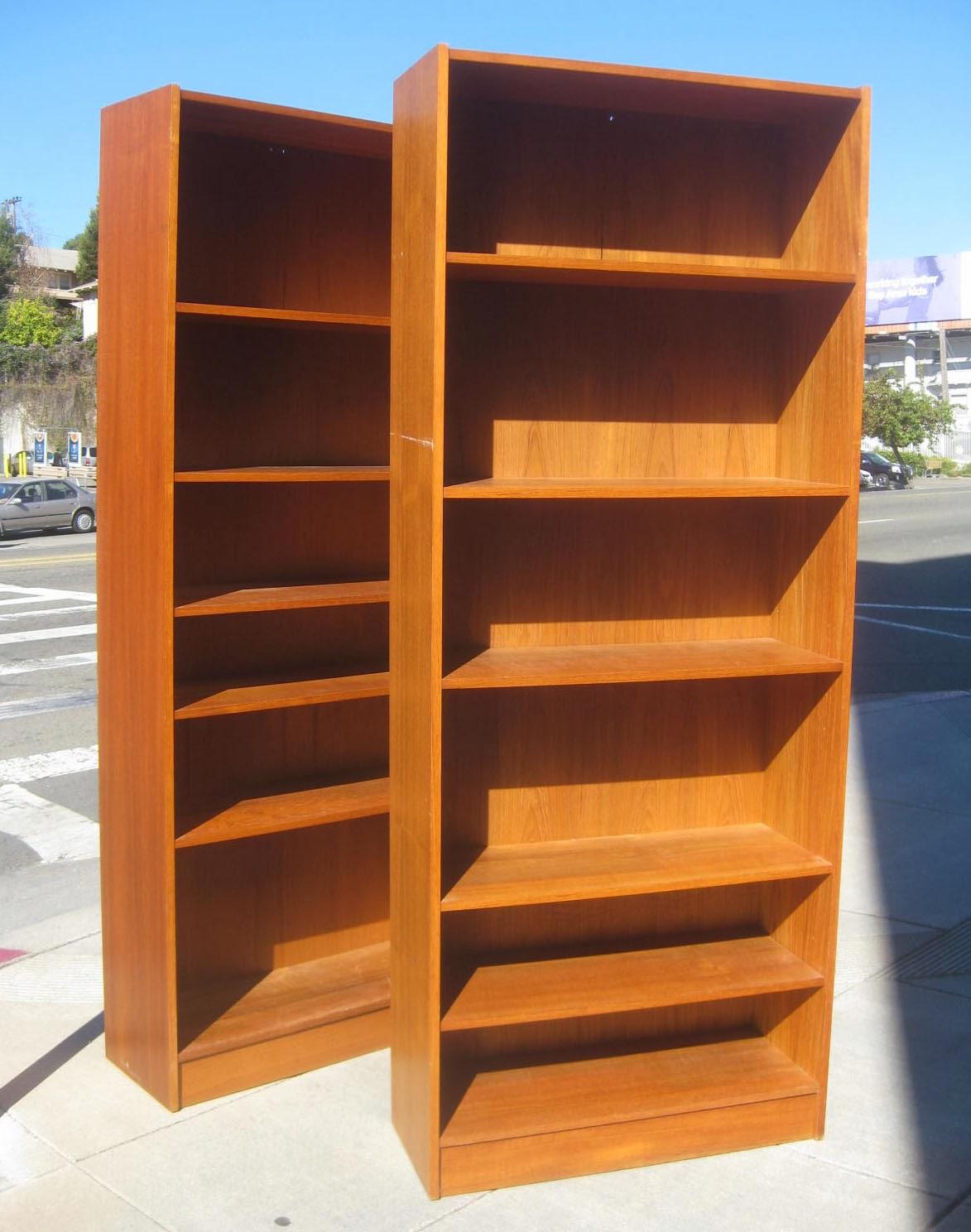 sold 3 teak bookshelves 60 each - Teak Bookshelves