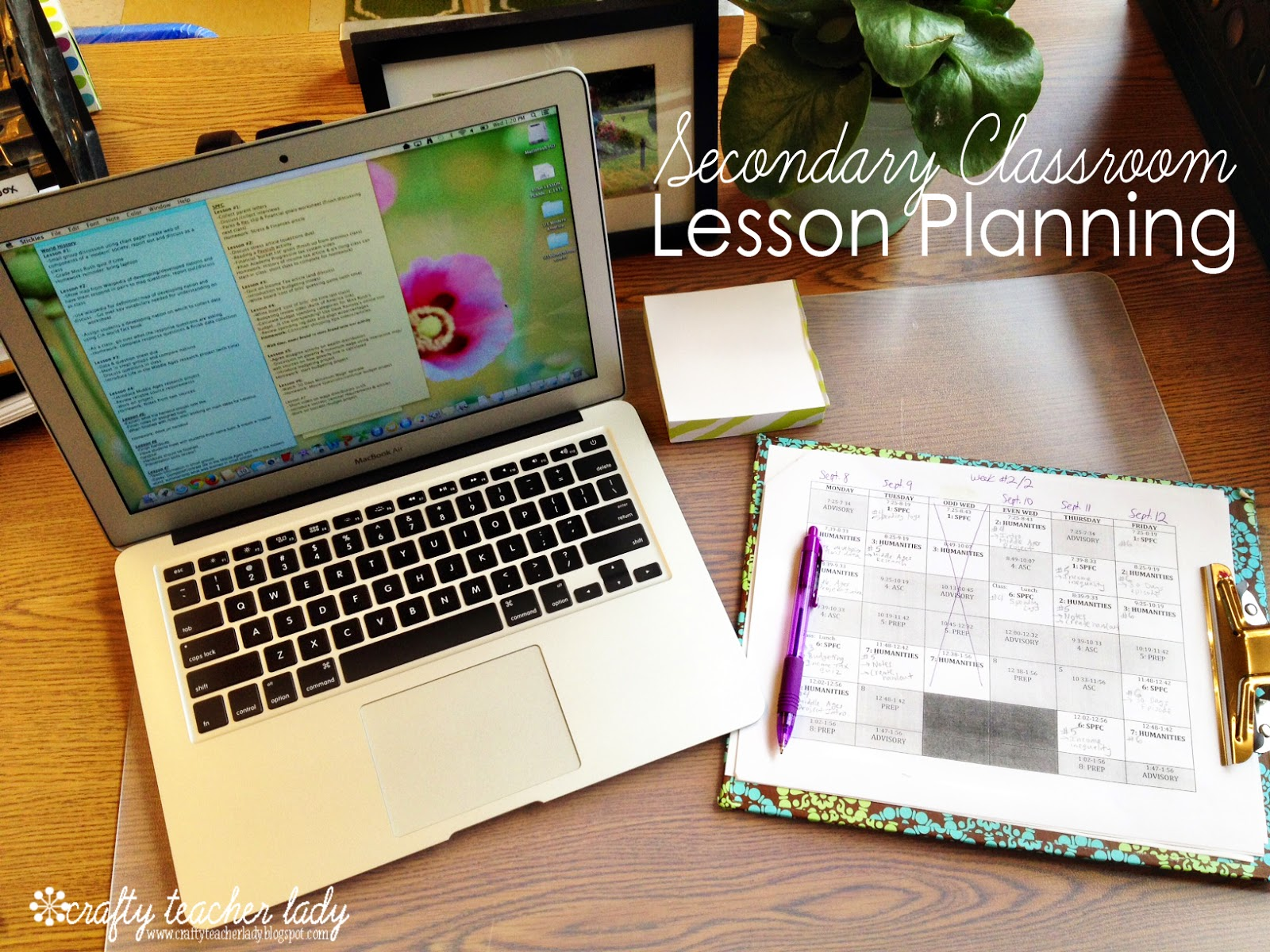 High School lesson planning ideas