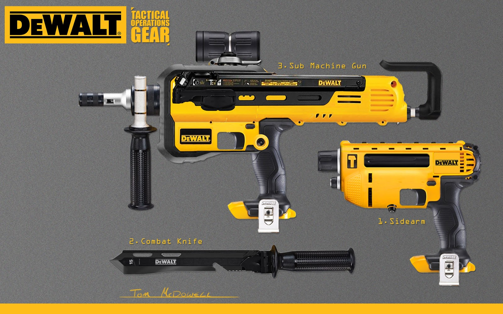 Tom McDowell: Dewalt Guns