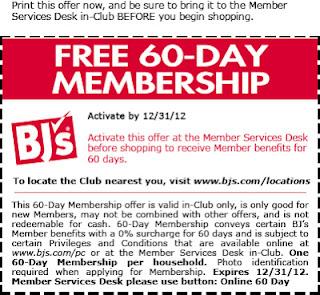 Free BJs Membership Coupon