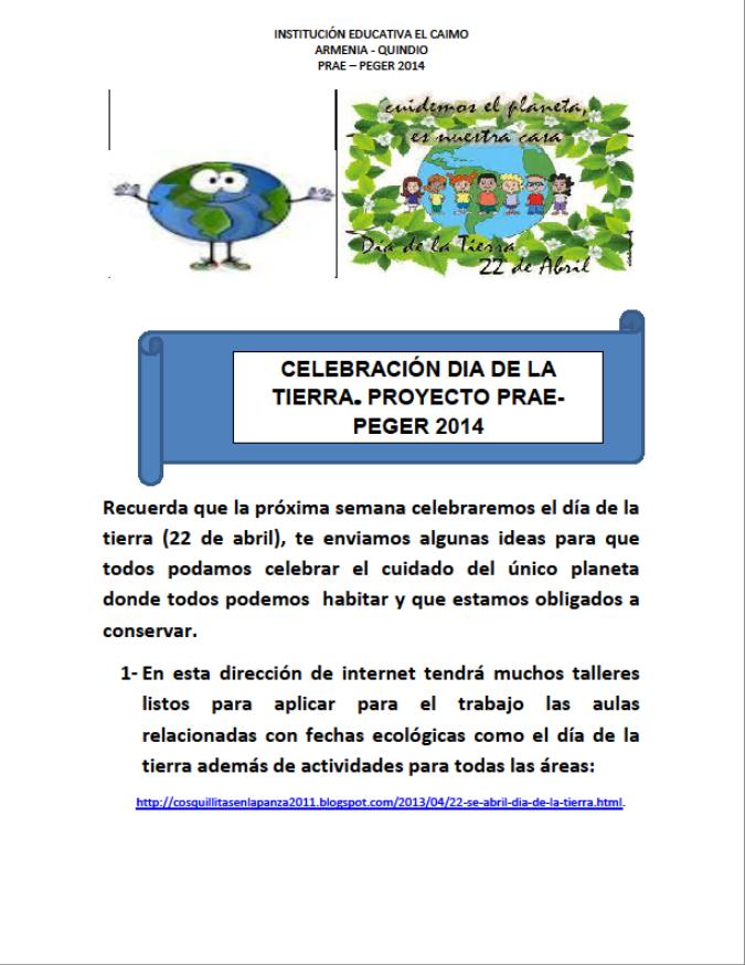 Taller Dia de la Tierra 2014