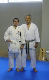 Sensei Mitsuo Inoue 8º Dan,  junto a Sensei Juan Acevedo