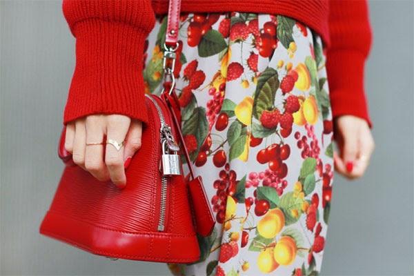 Estampa de frutas