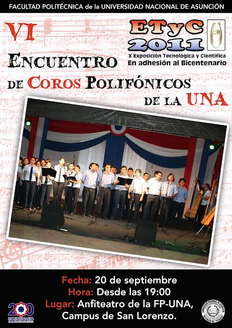 Imagen del Encuentro de Coros Polifónicos de la UNA