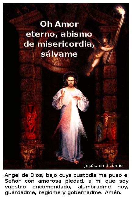 una angel alumbrado para que mires a jesus