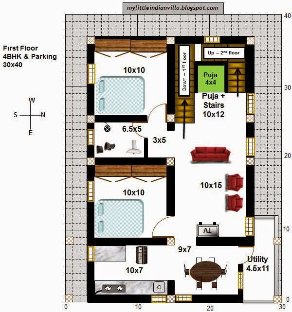 30x40 east facing duplex house plans joy studio design for 30x40 duplex house floor plans