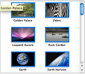 iDVD: Selecting photos for a slideshow in the Media>Photos tab