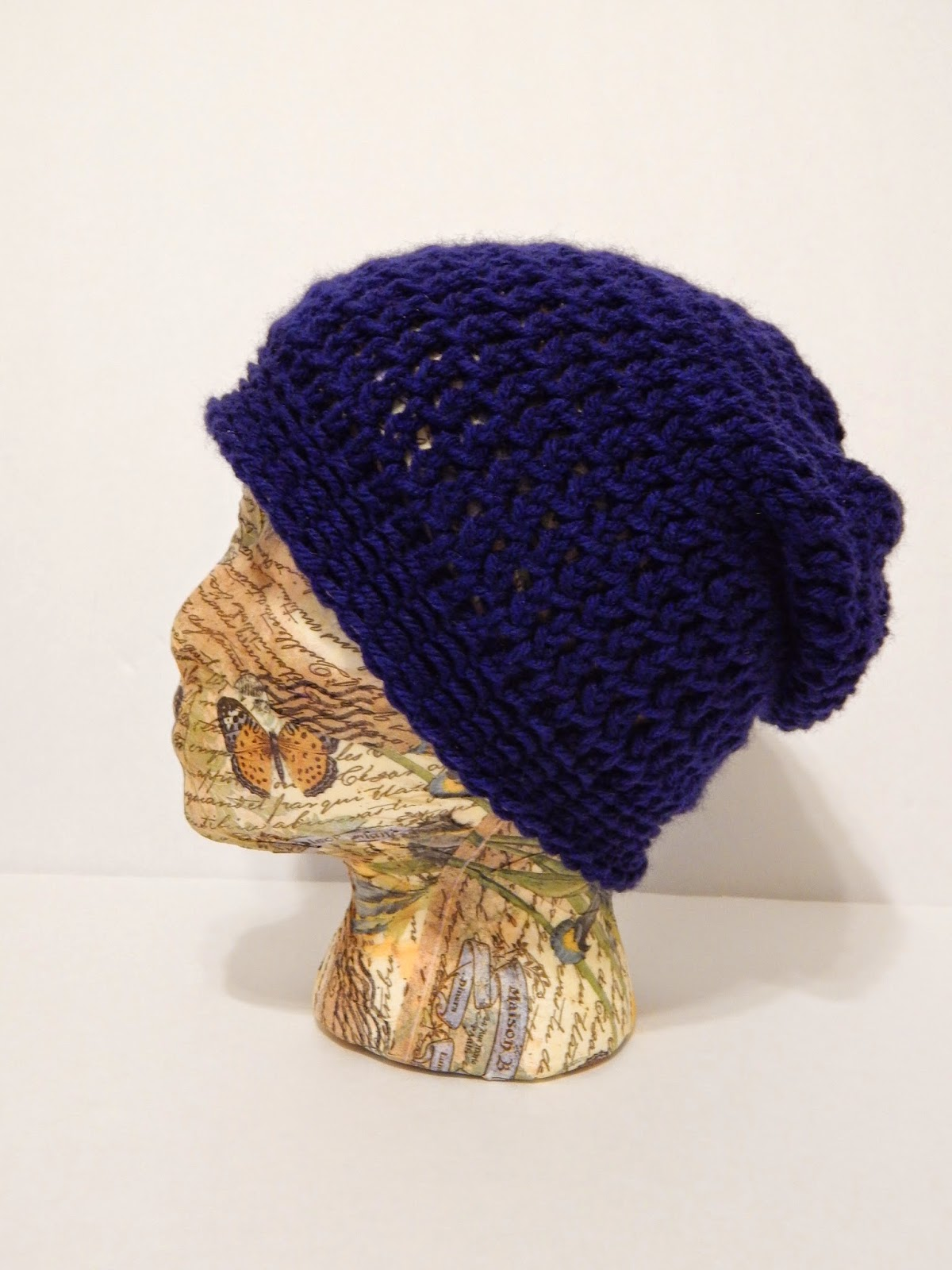 Knitting Loom Hat : Jovial knits loom knit slouchy hat bea s easy beanie