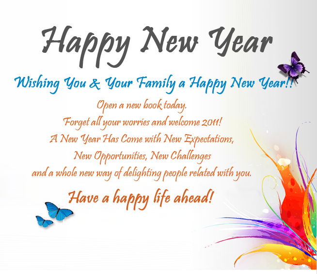 Happy New Year Wishes | Greeting Messages Wallpaper | Free World ...