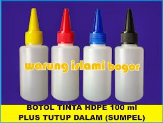 Jual Botol Tinta HDPE 100ml